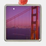 The Golden Gate Bridge shortly after sunset, Christmas Ornaments
