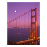 The Golden Gate Bridge shortly after sunset, Photographic Print