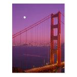The Golden Gate Bridge shortly after sunset, Postcards