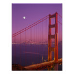 The Golden Gate Bridge shortly after sunset, Print