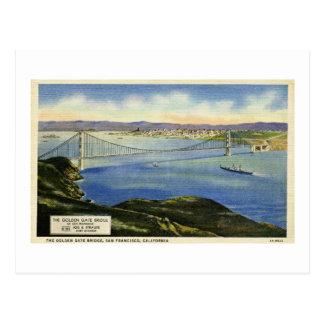 The Golden Gate Bridge Vintage Postcard