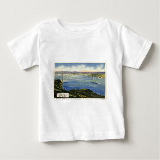 The Golden Gate Bridge Vintage Postcard Baby T-Shirt