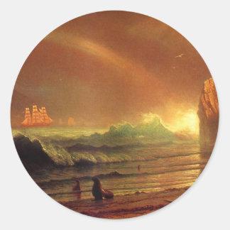 The Golden Gate by Albert Bierstadt Classic Round Sticker