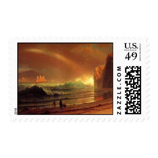 The Golden Gate by Albert Bierstadt Stamp