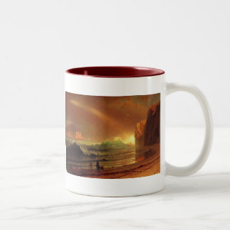 The Golden Gate by Albert Bierstadt Two-Tone Coffee Mug