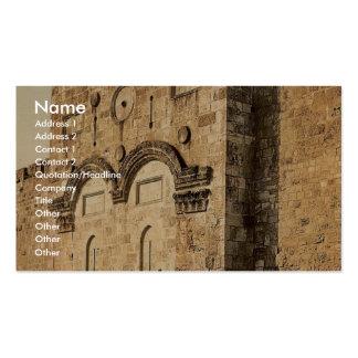 The Golden Gate (exterior), Jerusalem, Holy Land c Business Card Templates