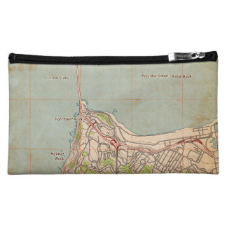 The Golden Gate Topographic Map Cosmetics Bags