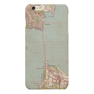 The Golden Gate Topographic Map Glossy iPhone 6 Plus Case