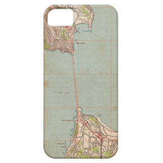The Golden Gate Topographic Map iPhone SE/5/5s Case
