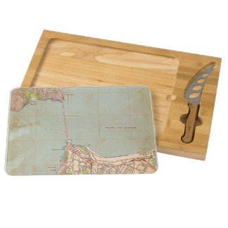 The Golden Gate Topographic Map Rectangular Cheese Board