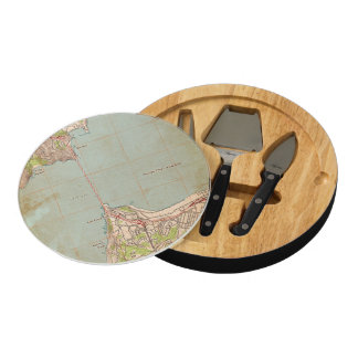 The Golden Gate Topographic Map Round Cheeseboard