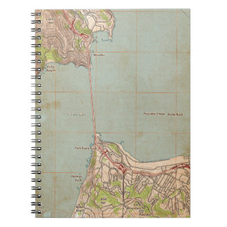 The Golden Gate Topographic Map Spiral Notebook