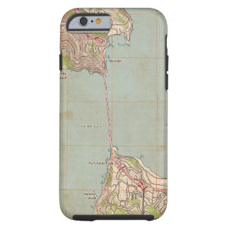 The Golden Gate Topographic Map Tough iPhone 6 Case
