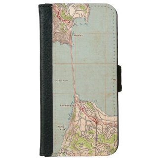 The Golden Gate Topographic Map Wallet Phone Case For iPhone 6/6s