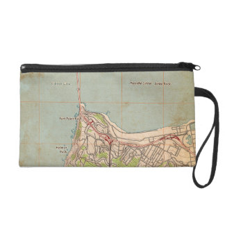 The Golden Gate Topographic Map Wristlet