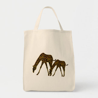 The Golden Giraffe Grocery Tote Bag