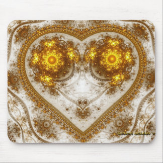 The Golden Heart Design Mouse Pad