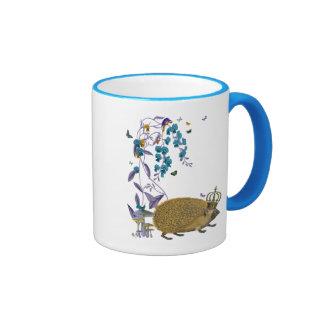 The Golden Hedgehog Ringer Coffee Mug
