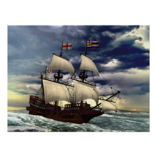 The Golden Hind Poster