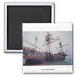 "The ""Golden Hinde"" 2 Inch Square Magnet"