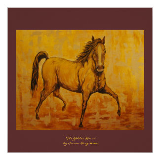 """""""The Golden Horse"""" Poster"""