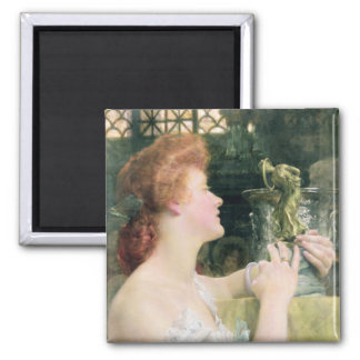 The Golden Hour, 1908 (oil on canvas) 2 Inch Square Magnet