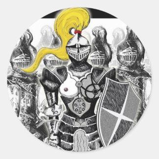 The Golden Knight Classic Round Sticker