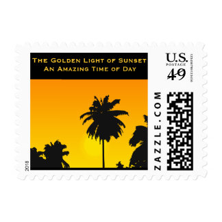 The Golden Light of Sunset Tropical Island Postage