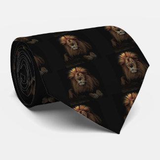 The golden lion neck tie