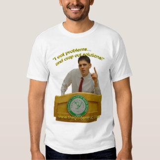 The Golden Mic - Brad's Presidential Slogan Tshirt