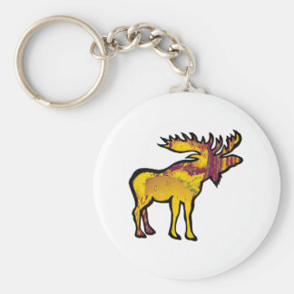 The Golden Moose Keychain