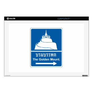 The Golden Mountain, Traffic Sign, Thailand Skins For Laptops