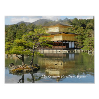 The Golden Pavilion in Kyoto Poster