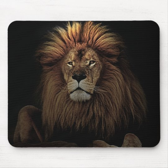 The Golden Proud  Lion Africa Mouse Pad
