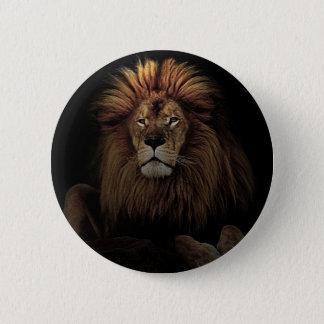 The Golden Proud  Lion Africa Pinback Button