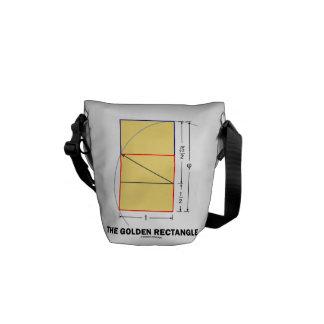 The Golden Rectangle Geometry Math Ratio Messenger Bag