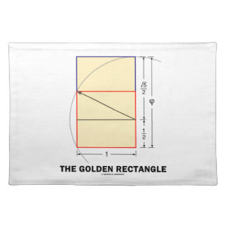 The Golden Rectangle (Geometry Math Ratio) Placemat