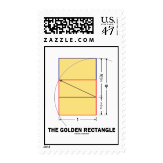 The Golden Rectangle (Geometry Math Ratio) Postage Stamp