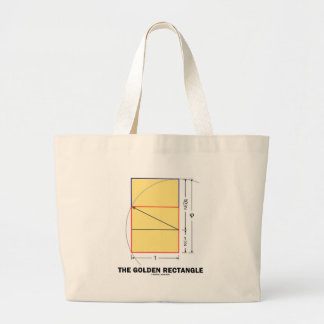 The Golden Rectangle (Mathematical Ratio) Large Tote Bag
