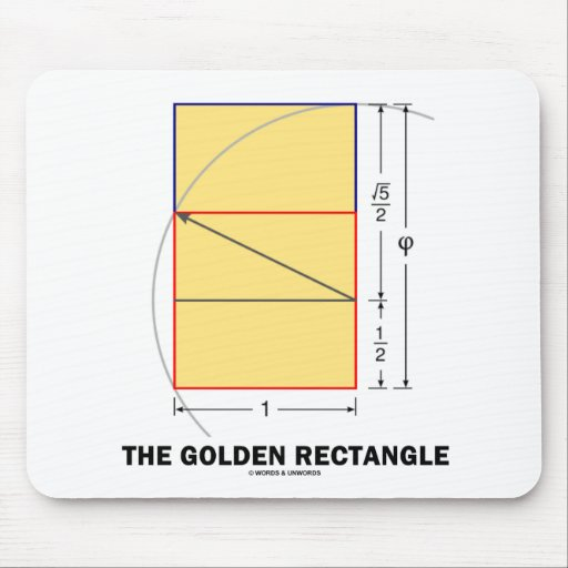 The Golden Rectangle (Mathematical Ratio) Mouse Pad