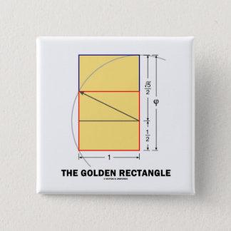 The Golden Rectangle (Mathematical Ratio) Pinback Button