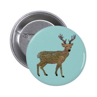 The Golden Reindeer Button
