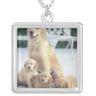 The Golden Retriever is a relatively modern and Square Pendant Necklace