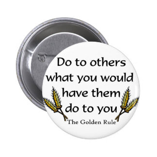 The Golden Rule christian gift item Button