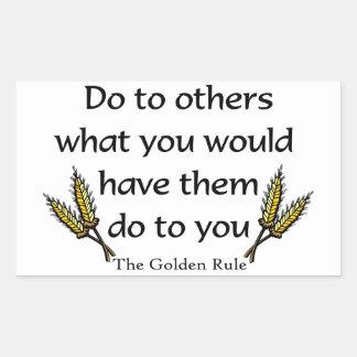 The Golden Rule christian gift item Rectangular Sticker
