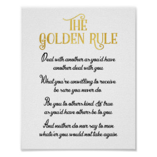 The Golden Rule Poster - Do Unto Others Proverb