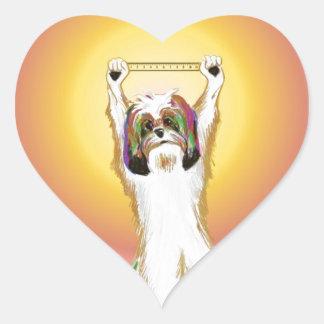 The golden rule RULES! Heart Sticker