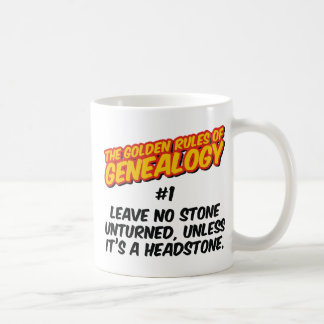 The Golden Rules of Genealogy #1 Classic White Coffee Mug
