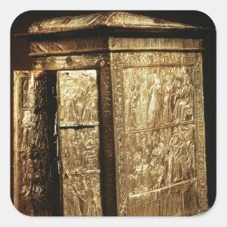 The Golden Shrine of Tutankhamun  New Kingdom Square Sticker