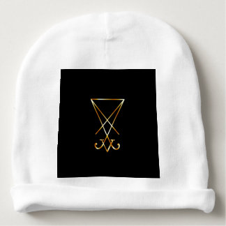 The golden sigil of Lucifer Baby Beanie